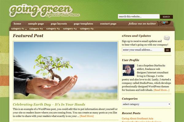 Going Green - Genesis Child Theme